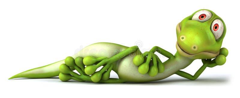zielona jaszczurka ilustracja wektor