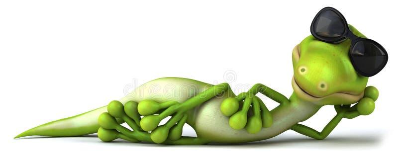 zielona jaszczurka ilustracji