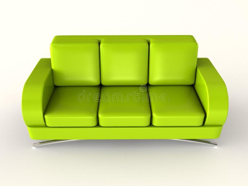 zielona kanapa ilustracji