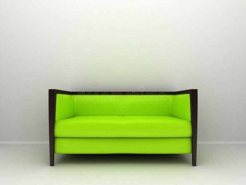 Zielona kanapa royalty ilustracja