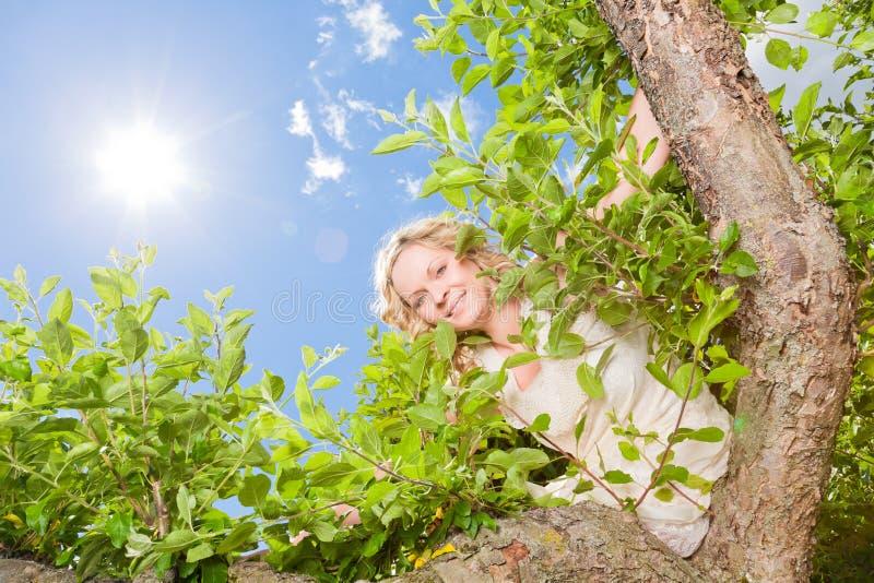 Zielona kobiety wiosna zdjęcie royalty free