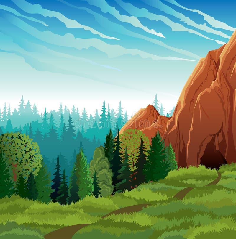 zielona krajobrazowa natura royalty ilustracja
