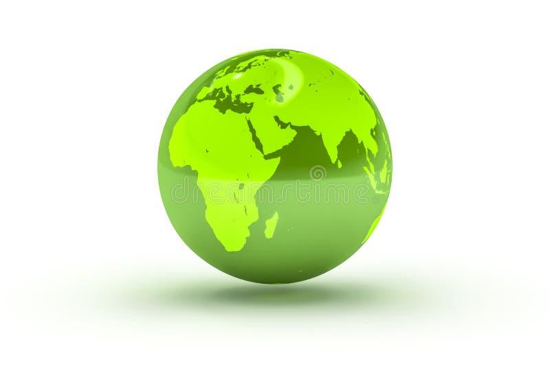 zielona kuli ziemskiej sfera royalty ilustracja