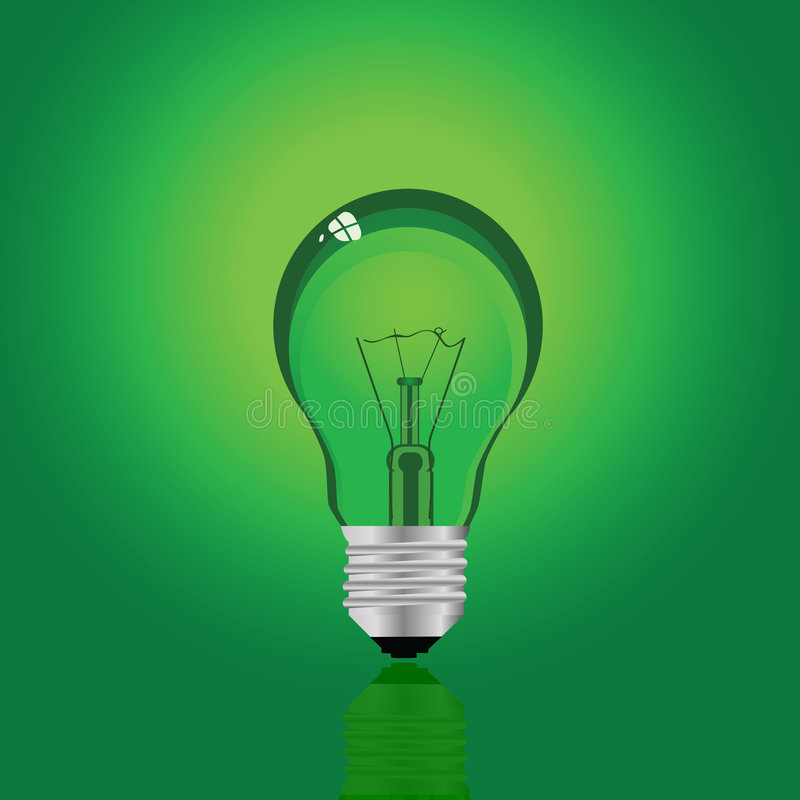 zielona lampa ilustracja wektor