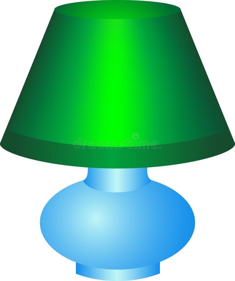 zielona lampa royalty ilustracja