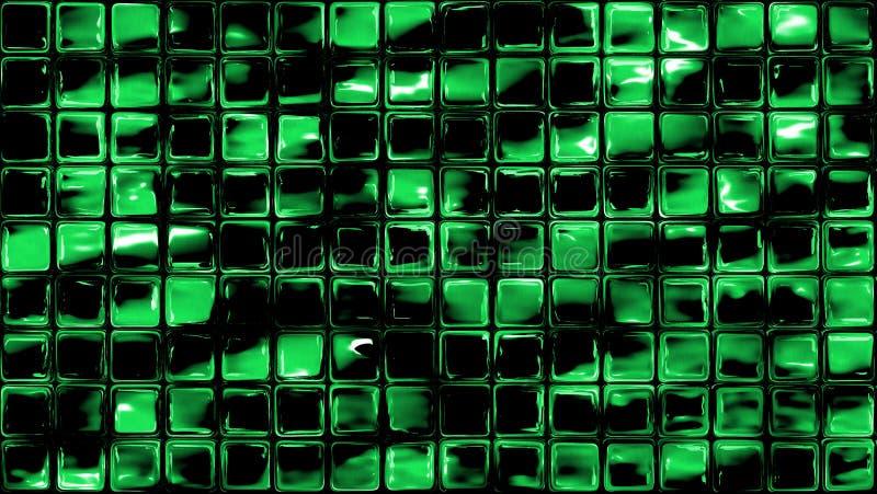 Zielona mała szklana ściana tafluje tło royalty ilustracja