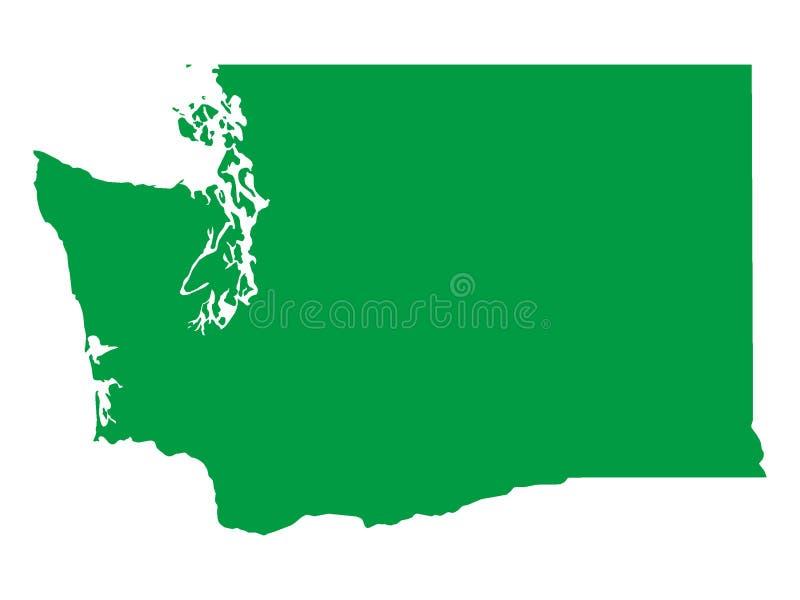 Zielona mapa stan usa washington dc royalty ilustracja