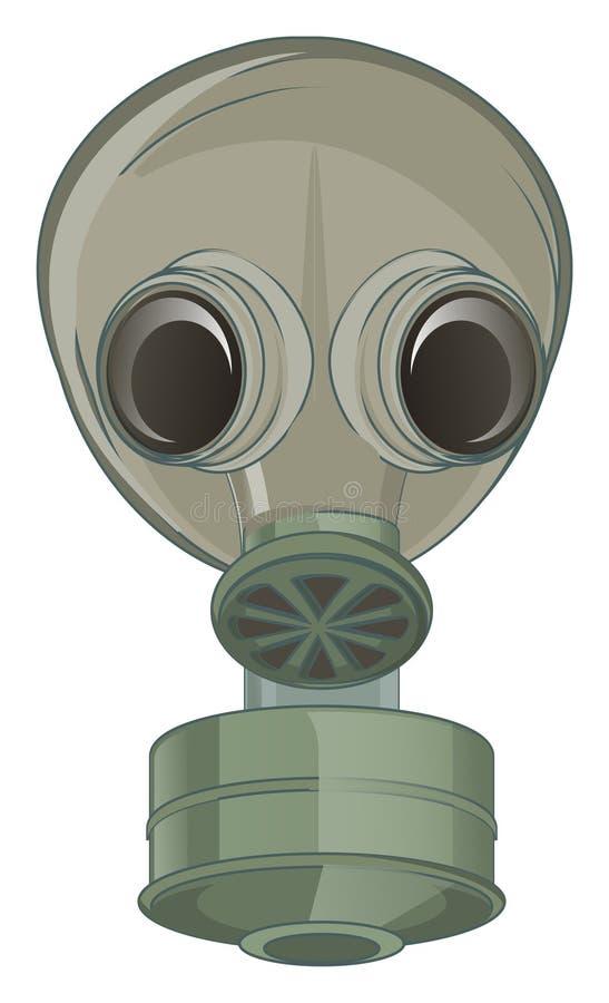 Zielona maska gazowa ilustracji