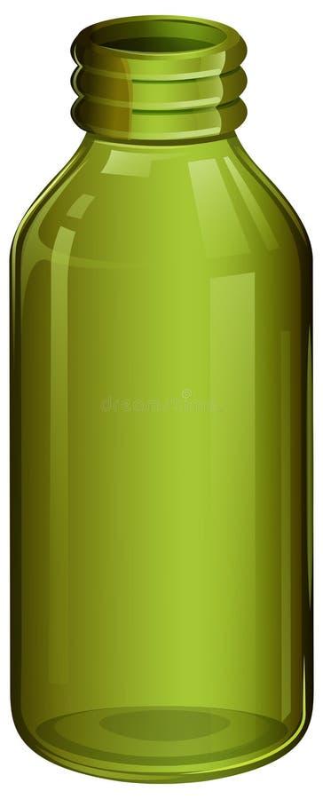 Zielona medyczna butelka royalty ilustracja
