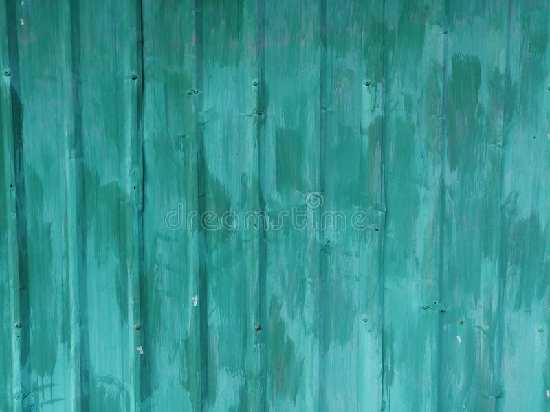 Zielona metal ściana dla tła fotografia stock