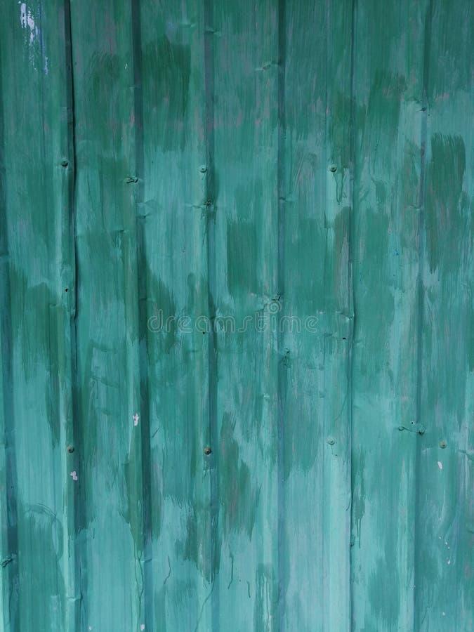 Zielona metal ściana dla tła zdjęcie stock