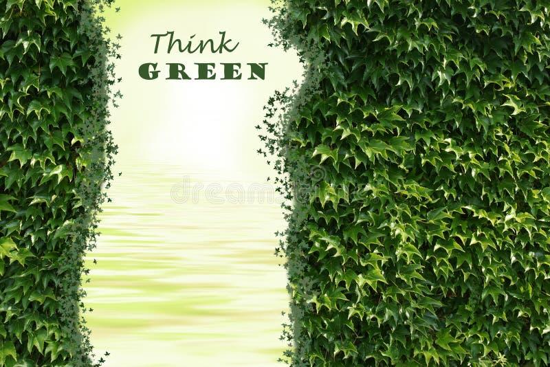 zielona myśl royalty ilustracja