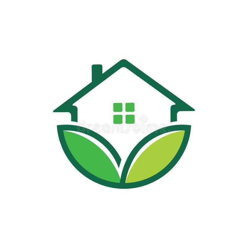 zielona natura przyjazny dom dom nieruchomości nieruchomości sprzedaż rynku wektor projekt logo ilustracja wektor