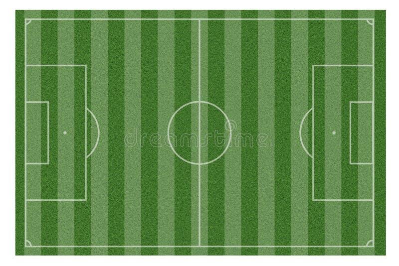 Zielona naturalna trawa boisko do piłki nożnej royalty ilustracja