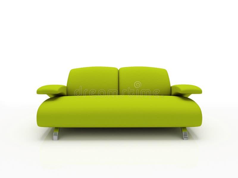 zielona nowoczesnej sofa ilustracji