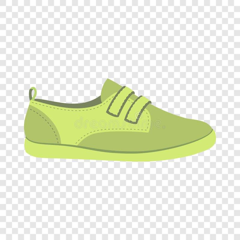 Zielona obuwiana ikona, mieszkanie styl royalty ilustracja