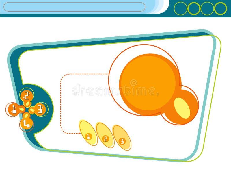 zielona ostrej szablon witryny internetowej ilustracja wektor