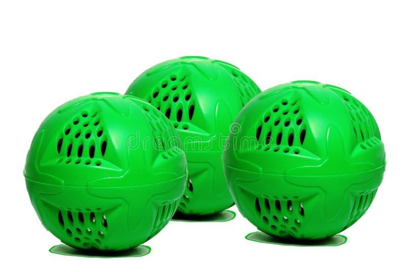 Zielona płuczkowa piłka obraz stock