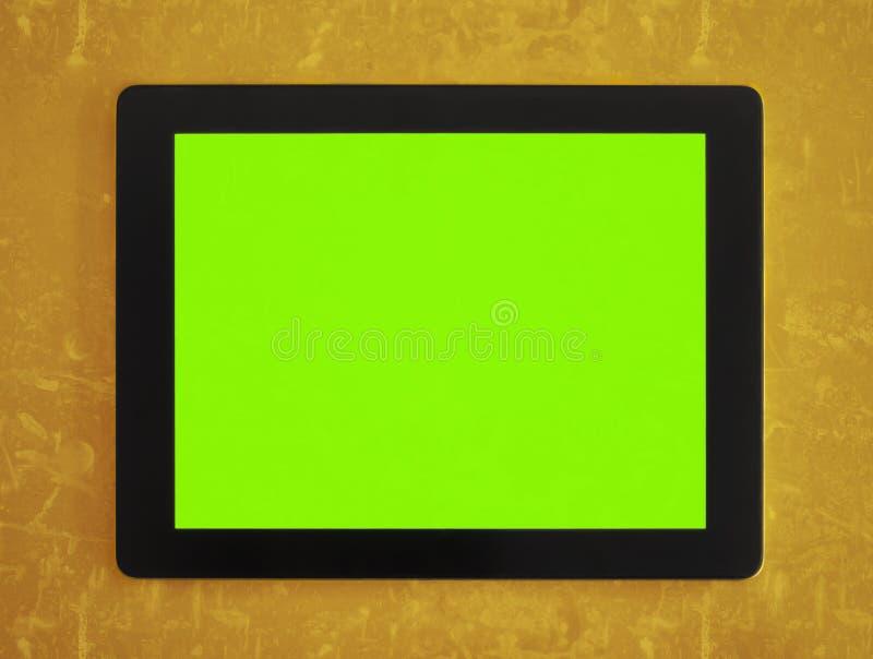 Zielona parawanowa pastylka fotografia stock