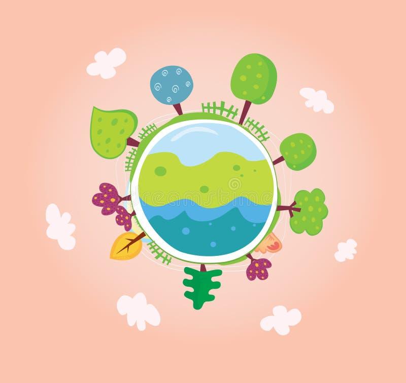 zielona planeta ilustracji