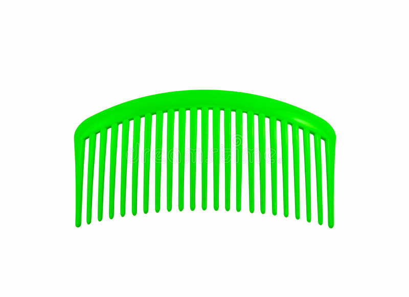 Zielona plastikowa włosy grępla obraz stock