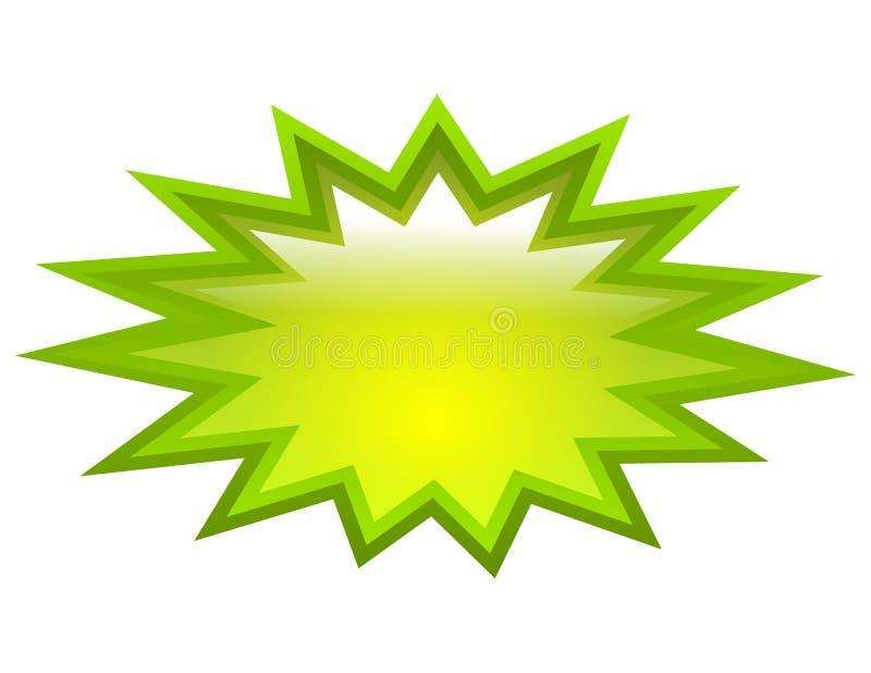 Zielona pluśnięcie ikona royalty ilustracja