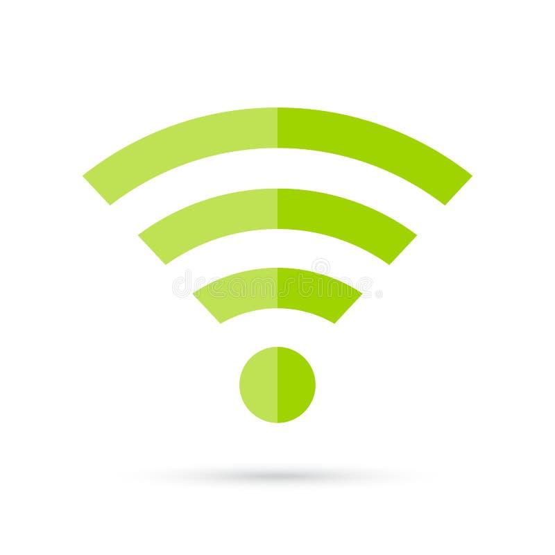 Zielona połączenie z internetem wektoru ikona royalty ilustracja