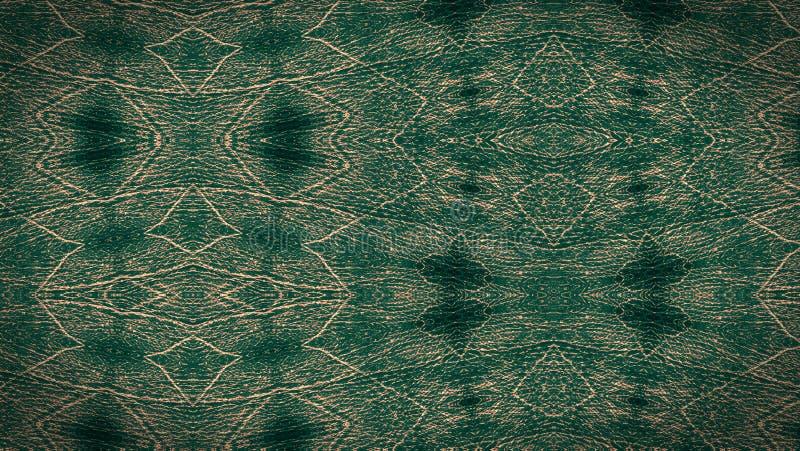 Zielona podława skóra Textured unikalny wzór ilustracja wektor