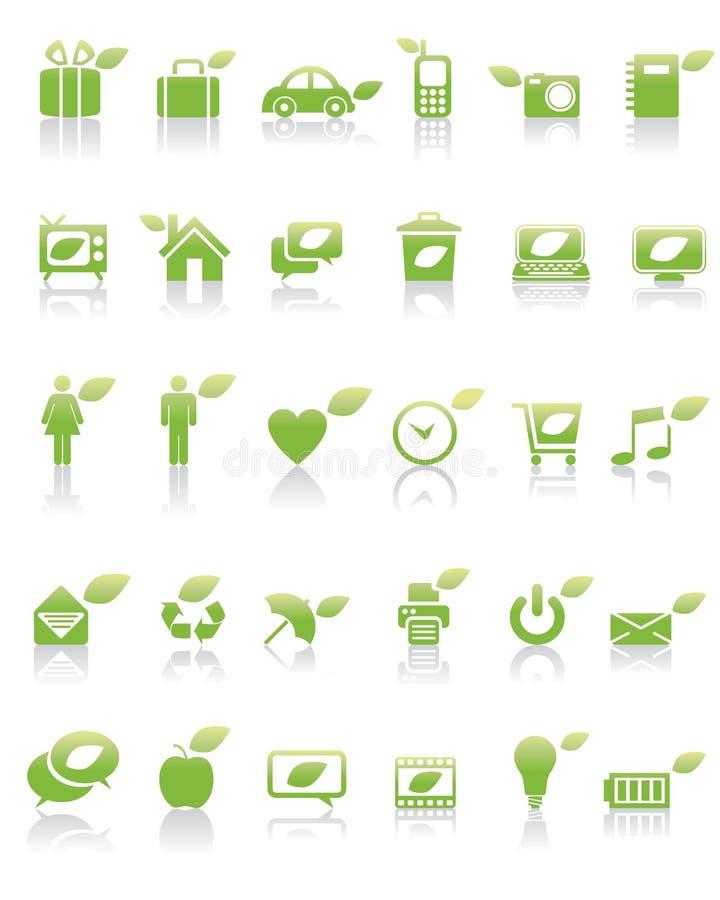 zielona pojęcie ikona ilustracji