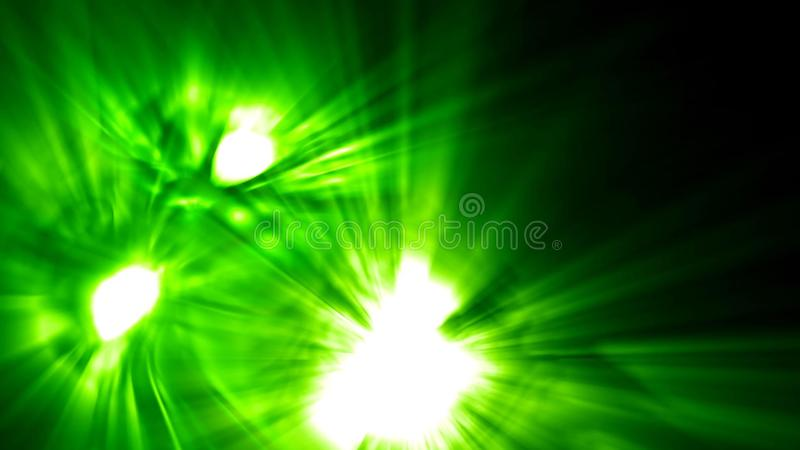 Zielona potwór furia z świecącymi oczami i usta ilustracji