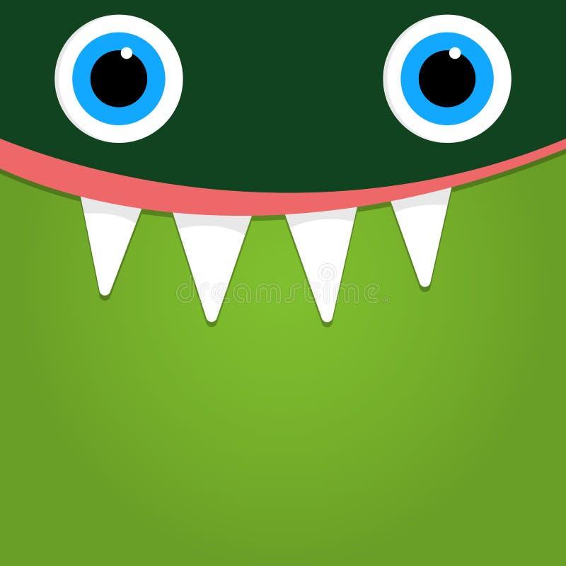 Zielona potwór twarzy tła ilustracja royalty ilustracja