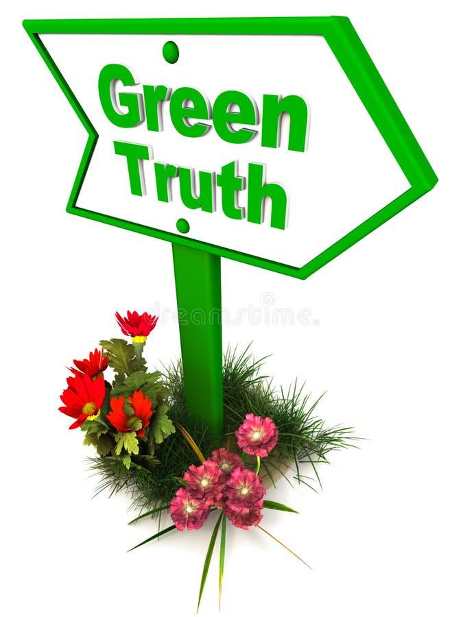 Zielona prawda royalty ilustracja