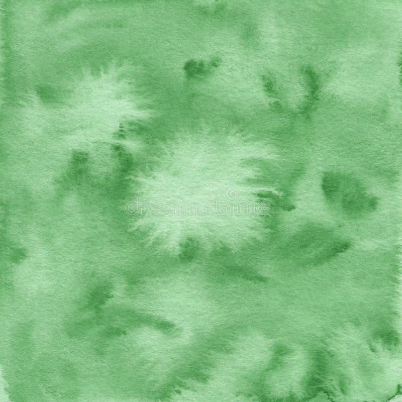 Zielona ręka malująca akwareli tekstura obraz royalty free