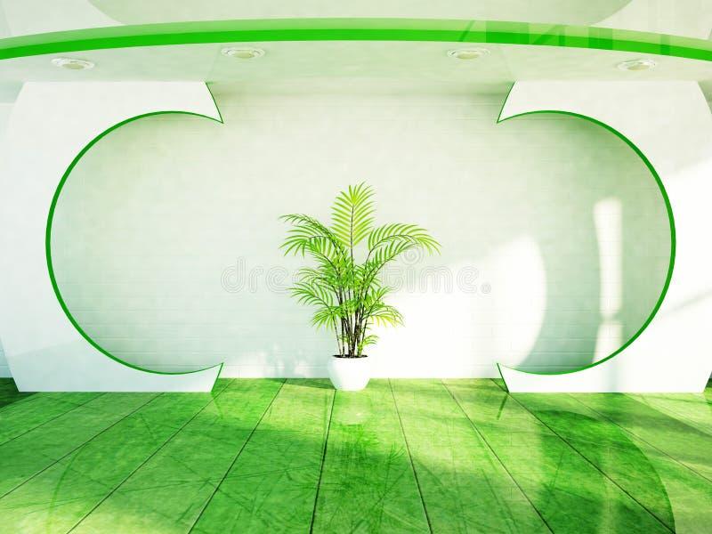 Download Zielona Roślina Jest Na Pokoju Ilustracji - Ilustracja złożonej z rówieśnik, palma: 41953992