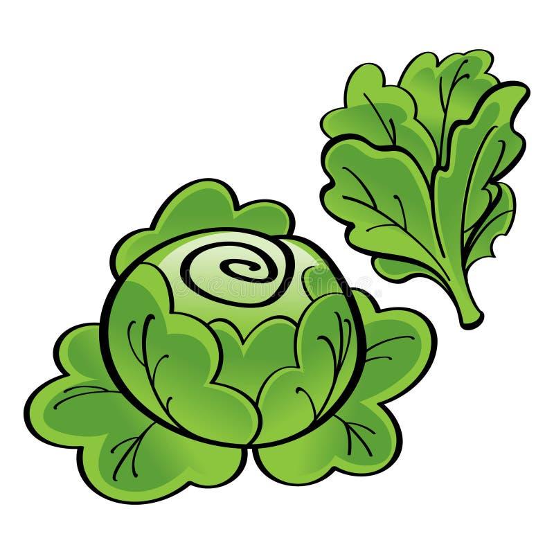 zielona sałata royalty ilustracja