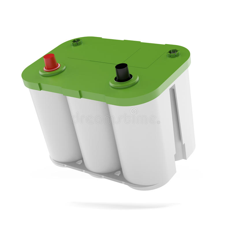 Zielona samochodowa bateria ilustracji