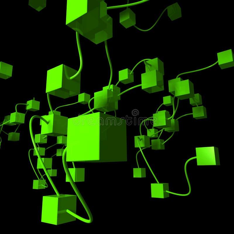 zielona sieć ilustracja wektor