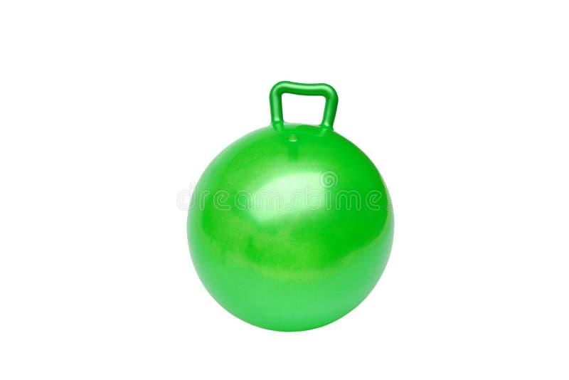 Zielona skakacz piłka zdjęcie royalty free