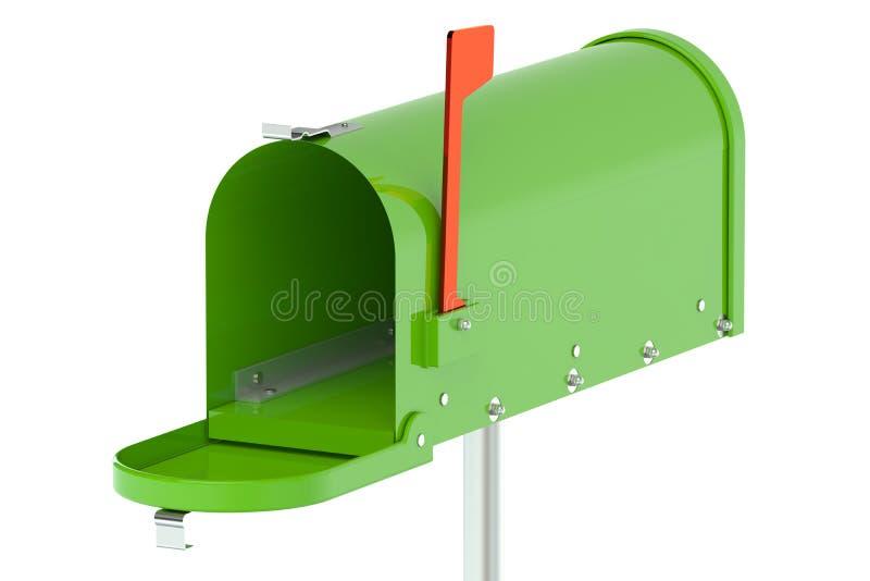 zielona skrzynki pocztowej ilustracji