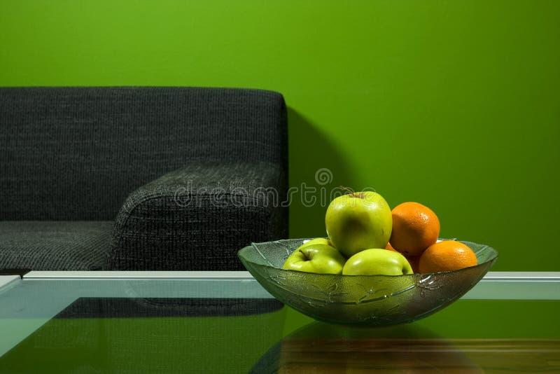 zielona sofa pokoju fotografia royalty free