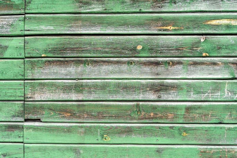 Zielona stara drewniana tekstura jako dobry tło zdjęcia royalty free