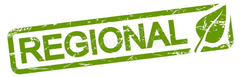 zielona stemplowa regionalność royalty ilustracja