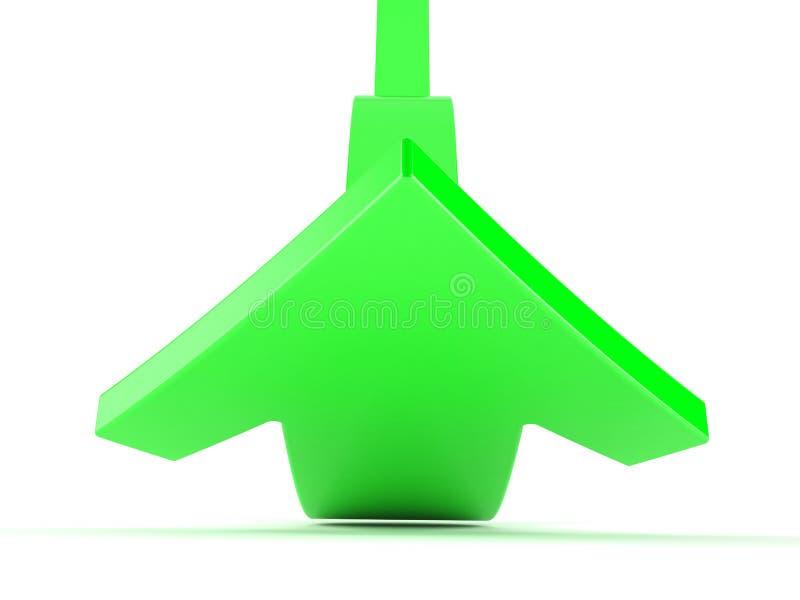 Zielona strzała iść up ilustracja wektor