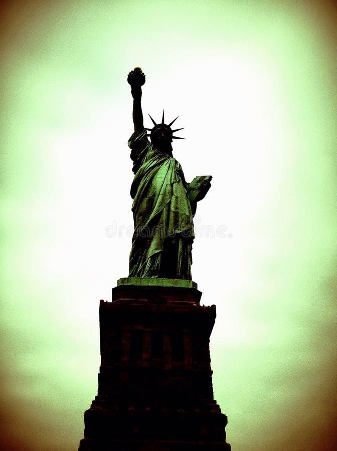 Zielona swoboda na Zielonym niebie zdjęcie royalty free