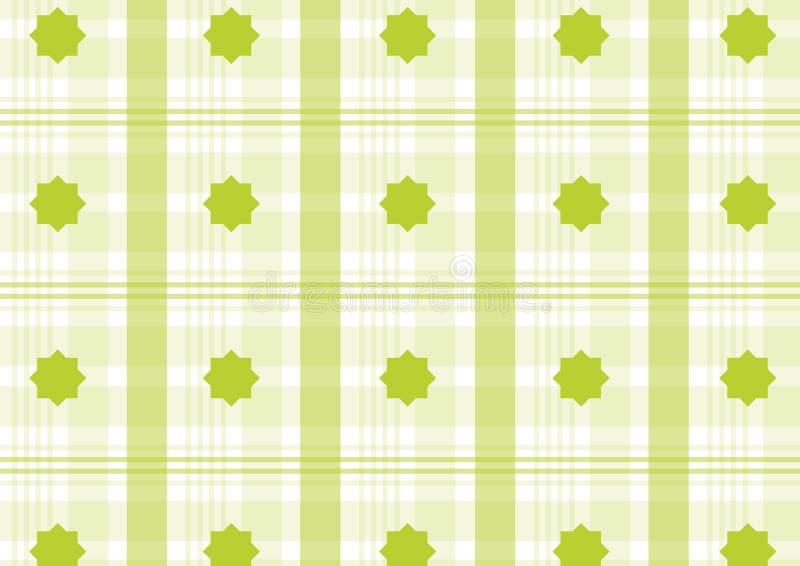 zielona szkocka krata royalty ilustracja