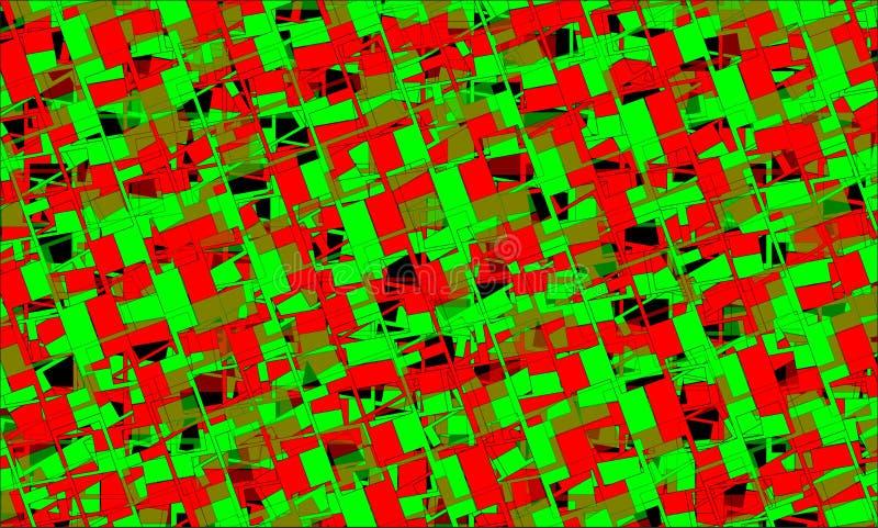 zielona tło czerwień obraz royalty free