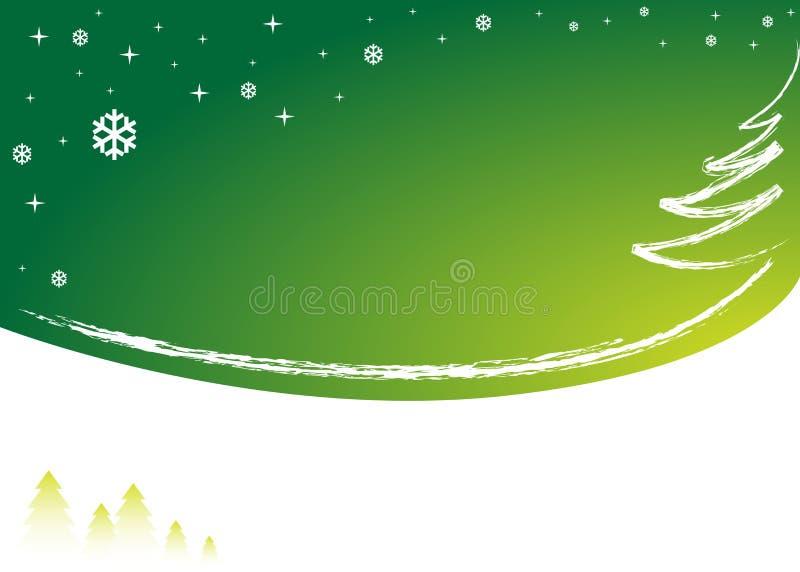 zielona tło zima ilustracji