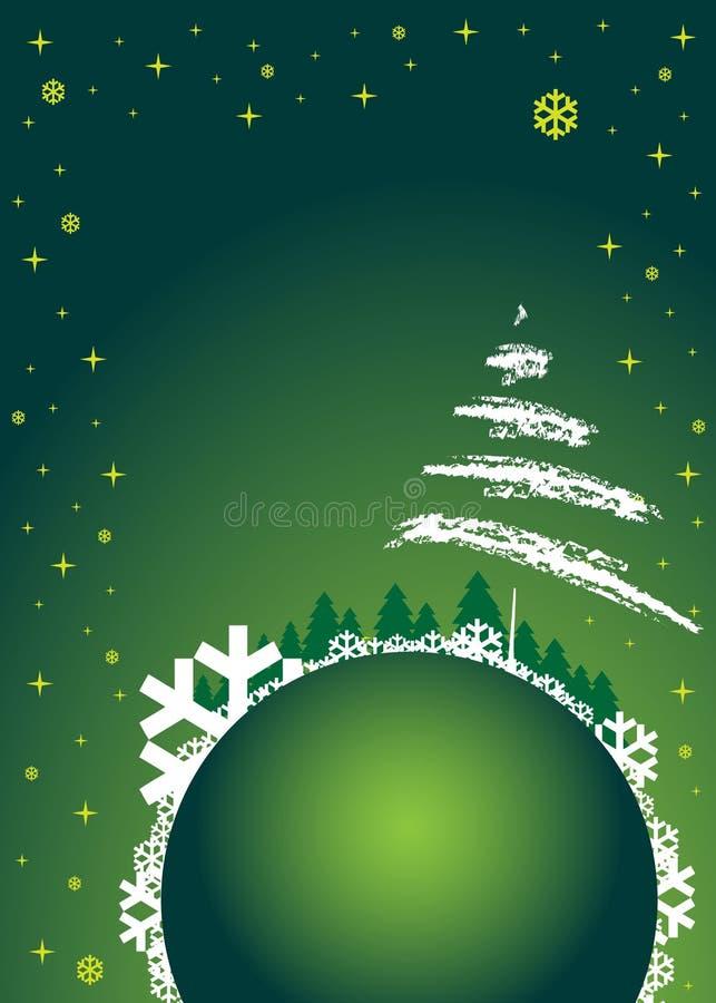 zielona tło zima royalty ilustracja