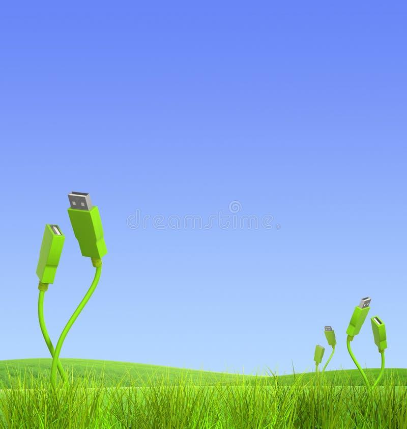 zielona technologia royalty ilustracja