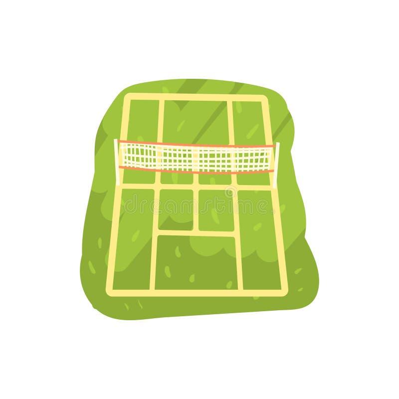 Zielona tenisowego sądu kreskówki wektoru ilustracja royalty ilustracja